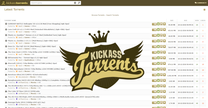 Kickass torrent site