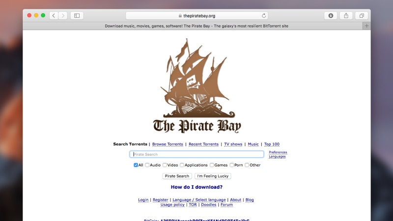 Piratebay torrent site