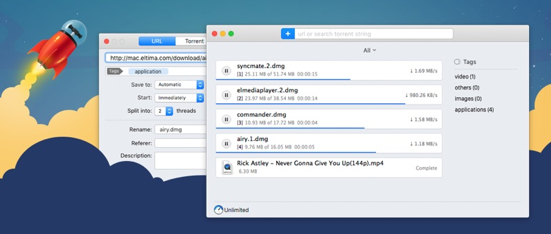 Folx als alternative 64-Bit-uTorrent-App für den Mac