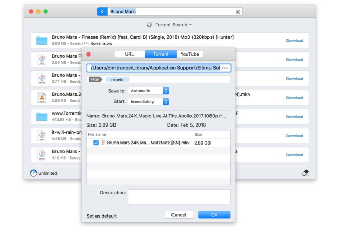 Torrent search engine for Mac | Folx