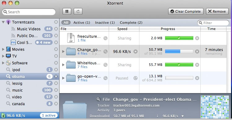 Xtorrent P2P for Mac torrenting app